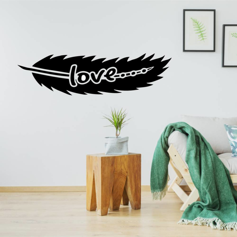 Muursticker tribal love veer bohemian