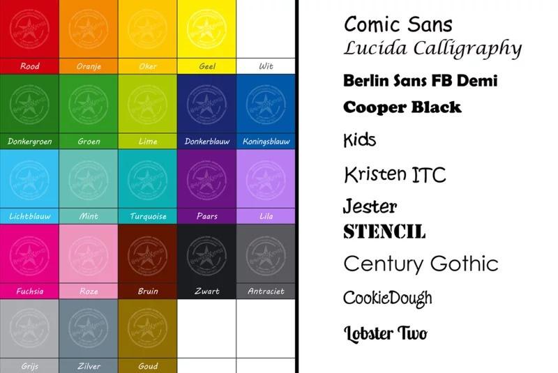 Raamsticker met naam en tipi tent (lettertype: Lettertype