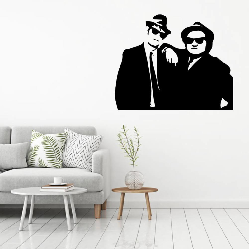 Muursticker blues brothers