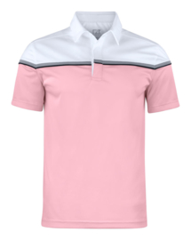 Seeback polo heren white/pink