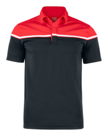 Seeback polo heren red/navy