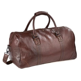 real leather holdall