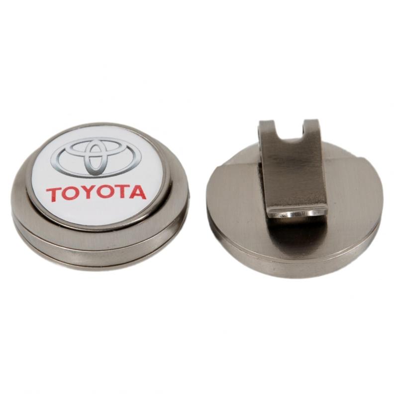 Flat  stickered cap clip