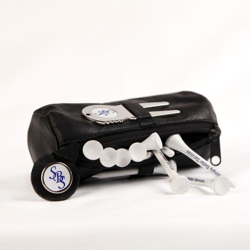 Leather tee accessoire bag