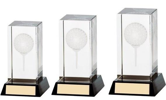 Kristal golfbal 3D