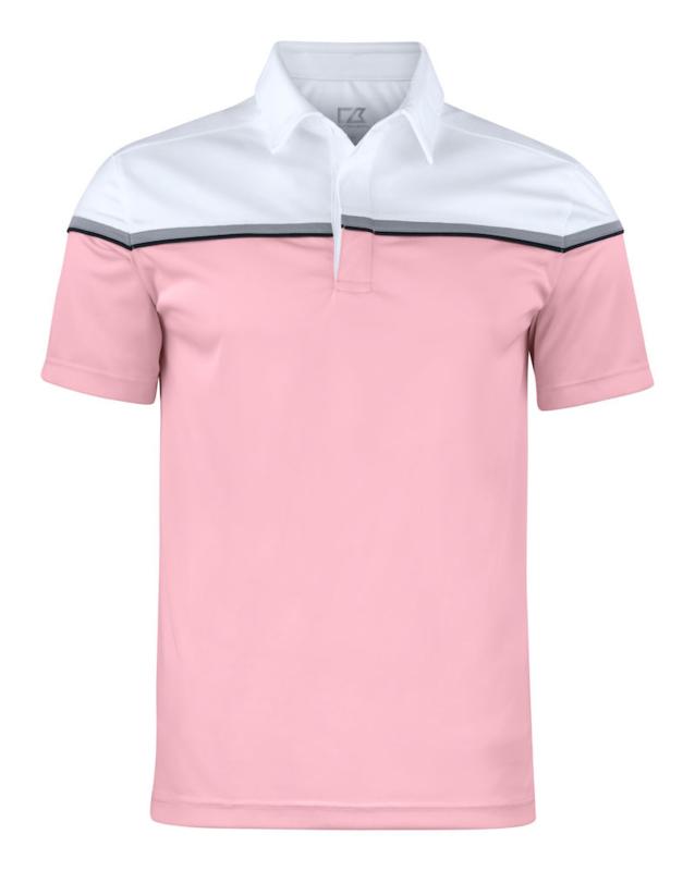 Seeback polo heren white/pink