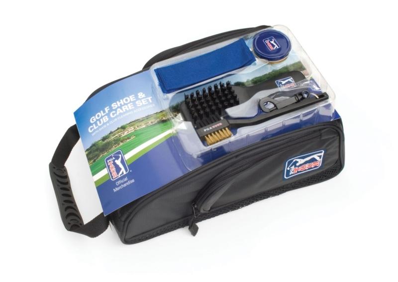 PGA Tour shoe bag brush set