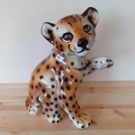 Beeld luipaard porselein