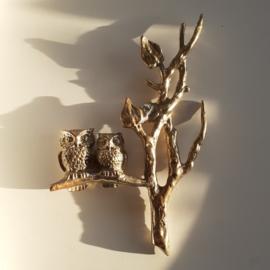 Uiltjes op een boom wandobject