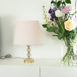 Tafellamp messing / glas
