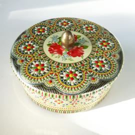 Rond kleurrijk mozaiek blik 1