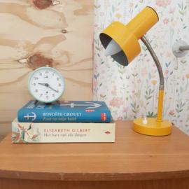 Vintage okerkleurige bureaulamp