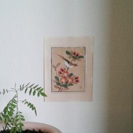 Japanse schildering op zijde