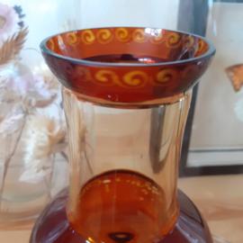 Vaasje glas bruin