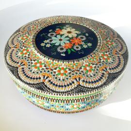 Rond kleurrijk mozaiek blik 3