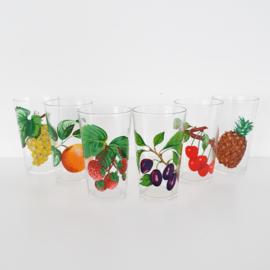 Vintage fruitglazen