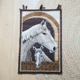Wandkleed paarden
