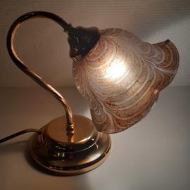 Tafellampje glazen kap