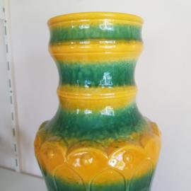 Vloervaas blauwgroen geel