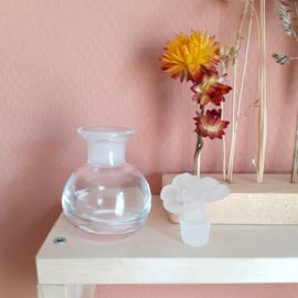 Flesje glas bloem