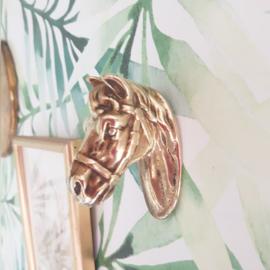 Bronzen paardenknop