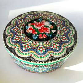 Rond kleurrijk mozaiek blik 2