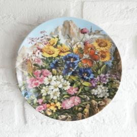 Wandbord alpenbloemen
