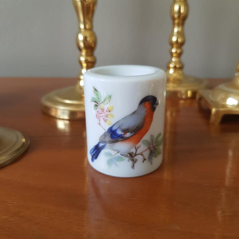 Kaarshouder vogel porselein