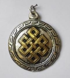 Pendentif tibétain Noeud Infini