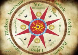 La roue de l'année celtique