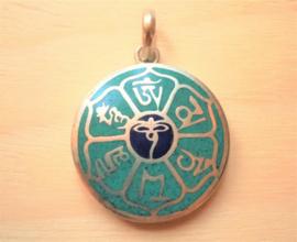 Pendentif tibétain Yeux de Bouddha