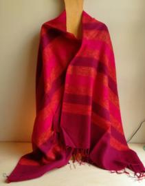 meditatie omslagdoek paars / oranje