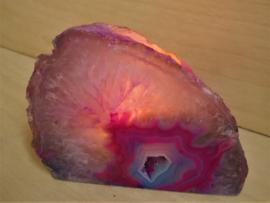 Porte bougie agate rose