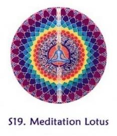 Raamsticker Meditatie Lotus