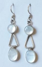 Boucles d`Oreille Argent et Perle de Mer