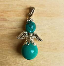 Pendentif ange gardien Turquoise