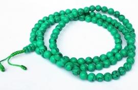 Collier Mala  Tibétain en Turquoise