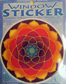Raamsticker Golden Lotus