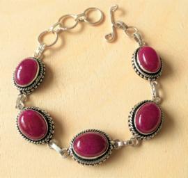 Bracelet pierres précieuses Rubis