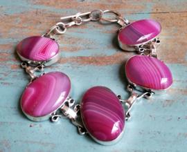 Bracelet Agate  en argent