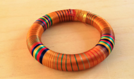 Bracelet indien en soie orange