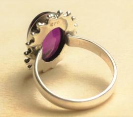 Ring Amethist zilver