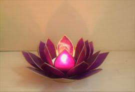Porte-bougie Lotus violet