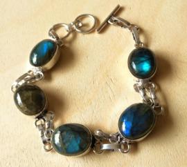 Bracelet Labradorite en argent