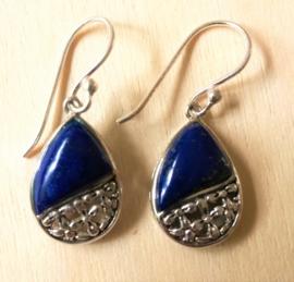 Boucles d'oreilles  Lapis Lazuli en argent