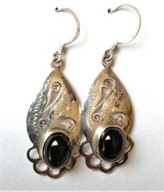 Boucles d`Oreilles Obsidienne