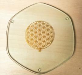 Plaque à énergie Fleur de Vie en Or