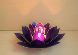 Porte bougies Lotus indigo