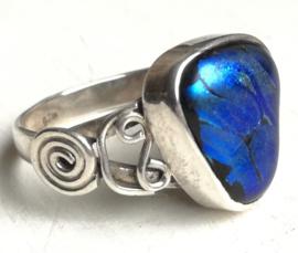 Ring Dichroic Glas Blauw