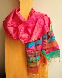 Sjaal roze uit India